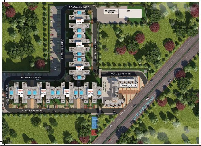 Pyramid Pride Affordable Housing Sector 76 Gurgaon Gurgaon, New Gurgaon (NH8) Affordable, Affordable Homes Site-Plan