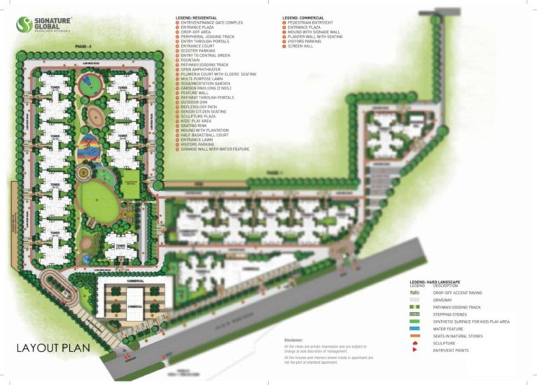 Signature Global Orchard Avenue Affordable Housing Sector 93 Gurgaon Gurgaon New Gurgaon (NH8) Affordable Affordable Homes Site-Plan