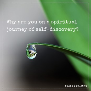 Why are you on a spiritual journey of self-discovery?