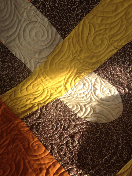 1976 Modern Baby Quilt | Machine Applique | ReannaLily Designs | Free Motion Quilting