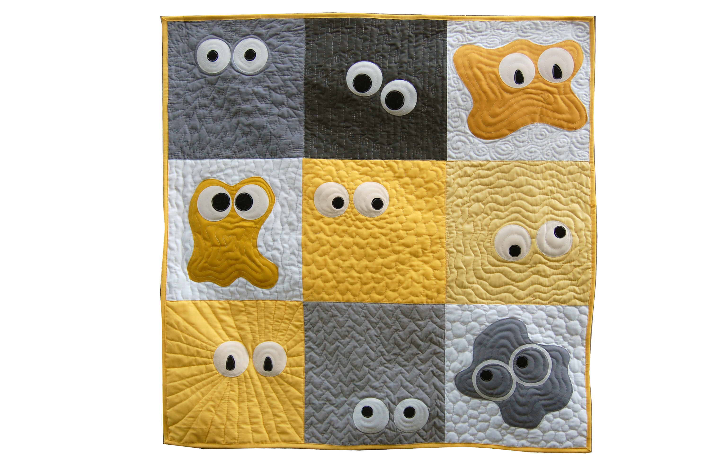 Purchase the Monster Madness Quilt Pattern at ReannaLily Designs