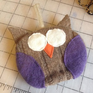 Owl Ornament | Recycle | Small Sewn Gifts | ReannaLily Designs