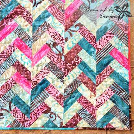 Reannalily Designs Batik Braid Quilt Tutorial
