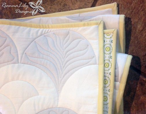 The Quilted Clamshell by Jen Eskridge   Clamshell Quilt Panels from Spoonflower