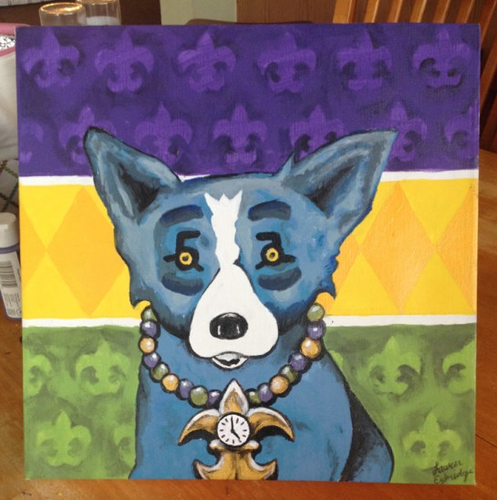 Blue Dog Fan Art | George Rodrigue | @meepsketch on IG