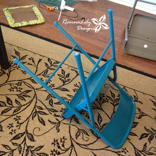 Recover and Paint a Folding Chair | DIY | Tutorial | How-To by ReannaLily Designs