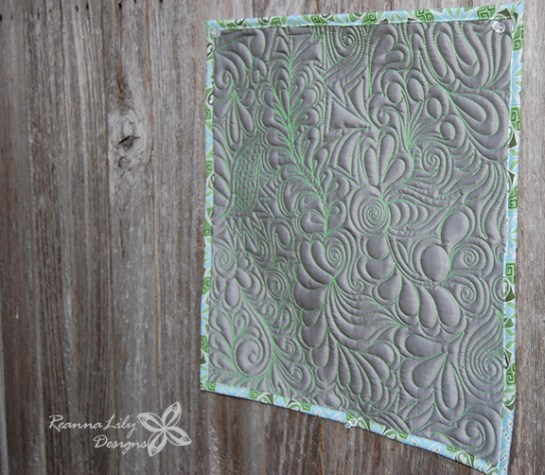 Graffiti Quilted Satin Mini Quilt | Jen Eskridge | ReannaLily Designs