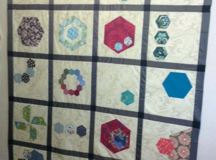 Hexagons Made Easy Sampler Quilt