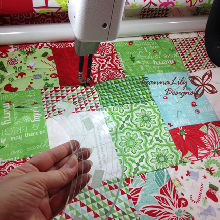 Double Slice Layer Cake | Kate Spain Jingle | ReannaLily Designs | Curved Longarm Ruler