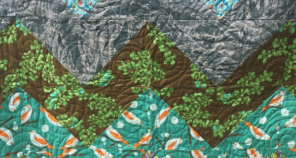 Fabric for Military Retirement Chevron Quilt