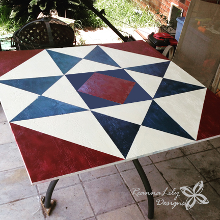 Ohio Star Barn Quilt by Jen Eskridge | ReannaLily Designs