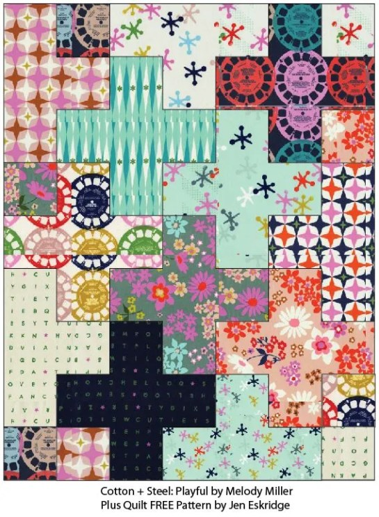 Plus Quilt by Jen Eskridge | ReannaLily Designs | Digital Image | Cotton + Steel