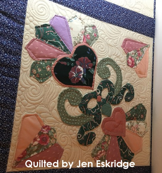 Hand Applique Quilt - Longarm Quilting by Jen Eskridge - ReannaLily Quilts