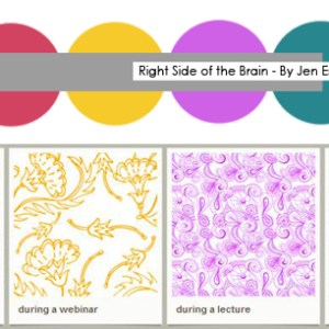 Right Side of the Brain | Jen Eskridge | Textile Design