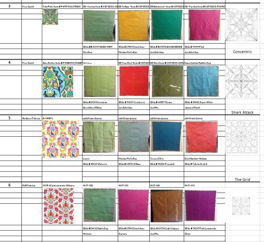 Excel Spreadsheet for Free-Motion Framework Machine Quilting Skill Builder Book | Wholecloth book | Jen Eskridge | C&T Publishing