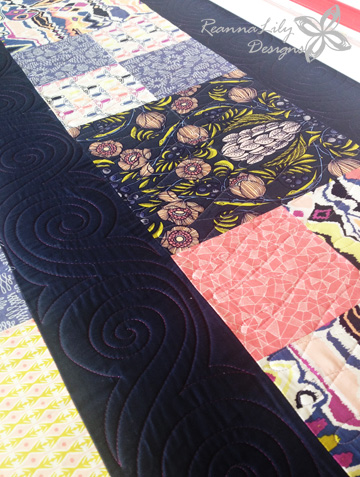 Swirl Border for Machine and Longarm Quilting Designs by Jen Eskridge | ReannaLily Quilts