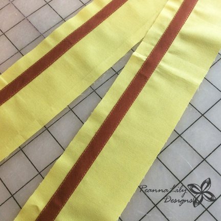 Ticker Tape Giraffe Tutorial | Jen Eskridge | ReannaLily Designs | Fabric Scrap Project | Apply Trim Using Seamingly Accurate Seam Guide