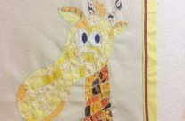 Ticker Tape Giraffe Quilt Block