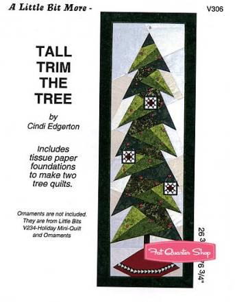 Tall Trim the Tree Pattern at Fat Quarter Shop