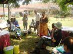 Rosalia teaching on making ointments at Natural Medicines Training Seminar