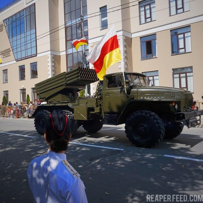Grad rocket South Ossetia