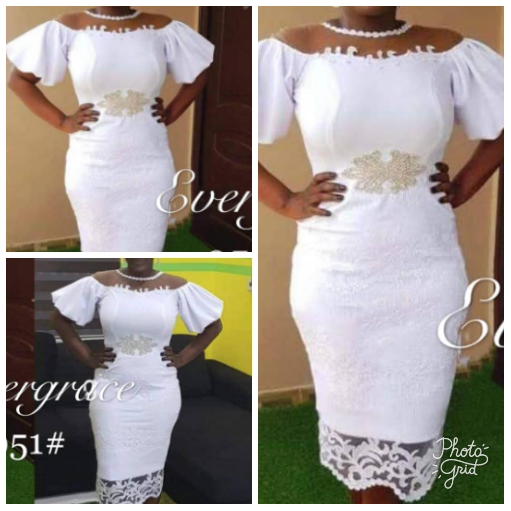 White Lace Dress Womens Clothing Reapp Ghana