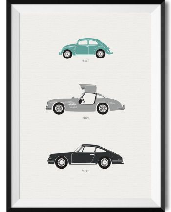 German Car Print - Rear View Prints