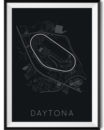 Daytona Race Track Print Poster - Rear View Prints