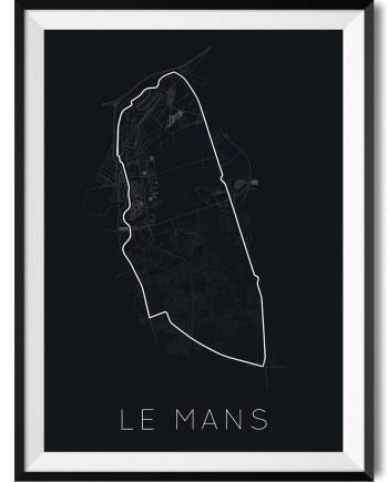 LeMan Track Print WBoarder Frame 1 - Rear View Prints