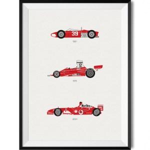Ferrari Car Print WBoarder Frame 2 – Rear View Prints