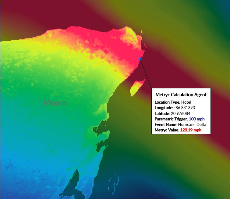 Hurricane Delta Metryc Footprint