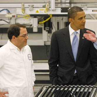 Solyndra's Ben Bierman with President Barack Obama
