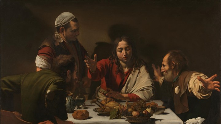 Supper at Emmaus, Caravaggio [Public domain] Wikipedia Commons
