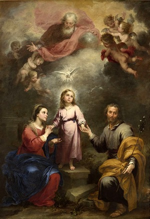 The Heavenly and Earthly Trinities (c. 1675-82) by Bartolomé Esteban Murillo (1617 - 1682)