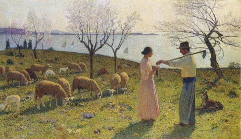 Sheep and their Shepherds, Image by Henri Martin (1860-1943), Oil on canvas, Painted circa 1925 © Sold Christie's London, 25 June 2008, lot 498, for £540,000. For other beautiful works of art and daily Gospel reflections please visit my friend Patrick van der Vorst at www.Christian.Art.