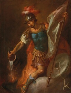 Saint Florian Extinguishing a Fire, by Martin Johann Schmidt, Oil on Canvas (1786)