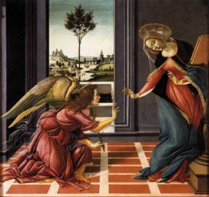 Annunciation by Da Vinci