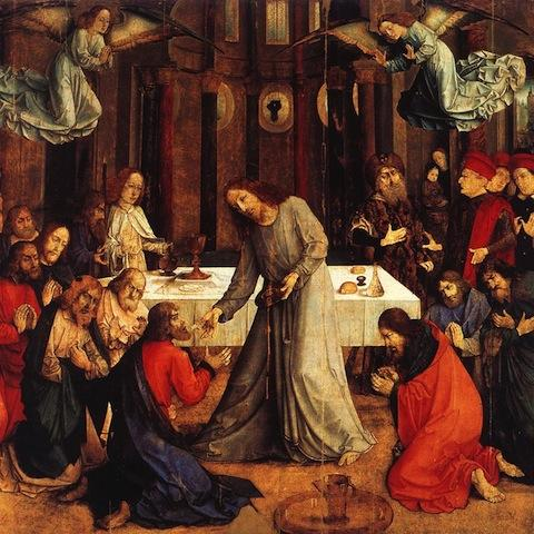 Joos van Wassenhove, The Institution of the Eucharist, 1473-75