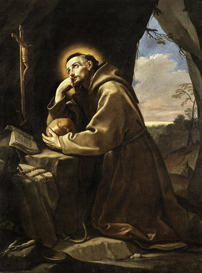 the-saint-francis-before-the-cross-praying-guido-reni