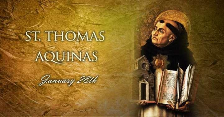 Jan. 28 - St. Thomas Aquinas