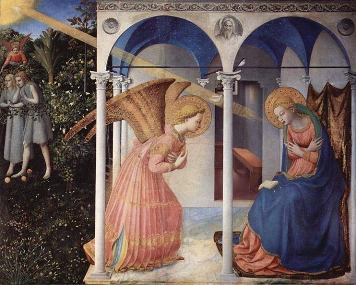 La Anunciación, 1430-1432, de Fra Angelico