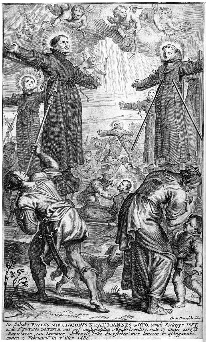 V0033263 Martyrdom of Paul Miki S.J., Jacob Kisai S.J., John Goto S.J