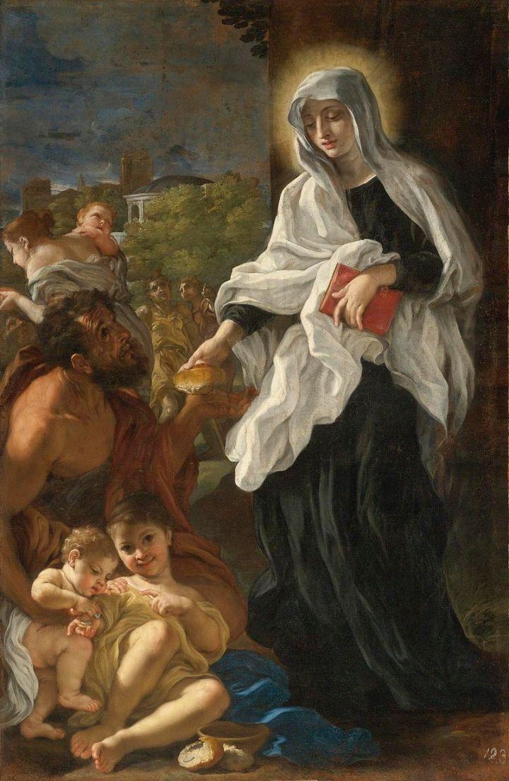 Baciccio-Saint_Francesca_Romana_Giving_Alms