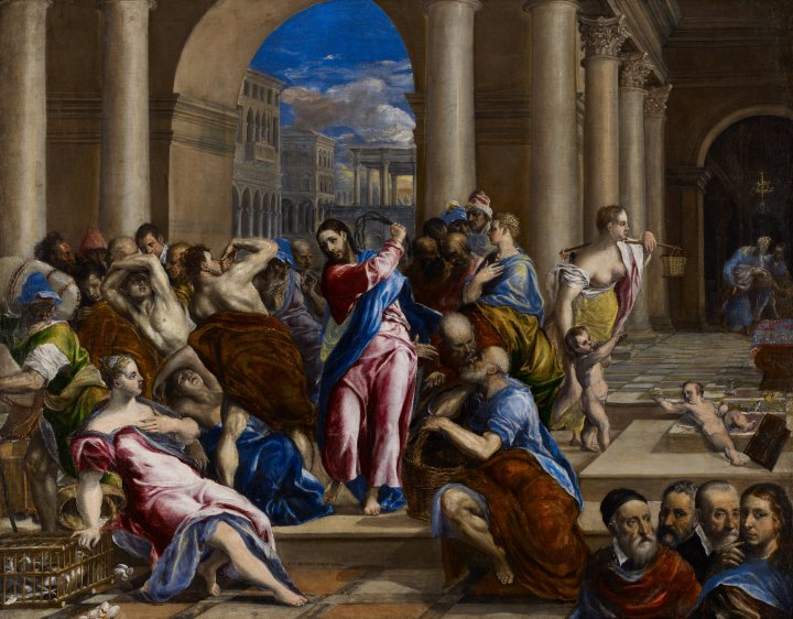 El greco christ driving our money changers john 2