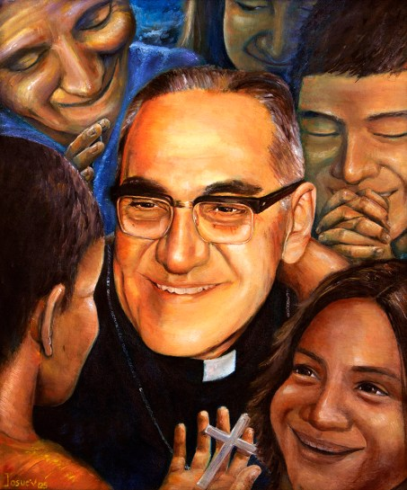 "A mural of Salvadoran Archbishop Oscar Romero is seen in 2015. Blessed Oscar Romero's martyrdom, ""the holy sacrifice of his life,"" during his celebration of the ""holy sacrifice"" of the Mass holds a powerful lesson for Catholics, Bishop John O. Barres of Rockville Centre, N.Y., said in a new pastoral on the life and ministry of the soon-to-be saint. (CNS photo/Octavio Duran) See BARRES-ROMERO-PASTORAL Sept. 24, 2018."