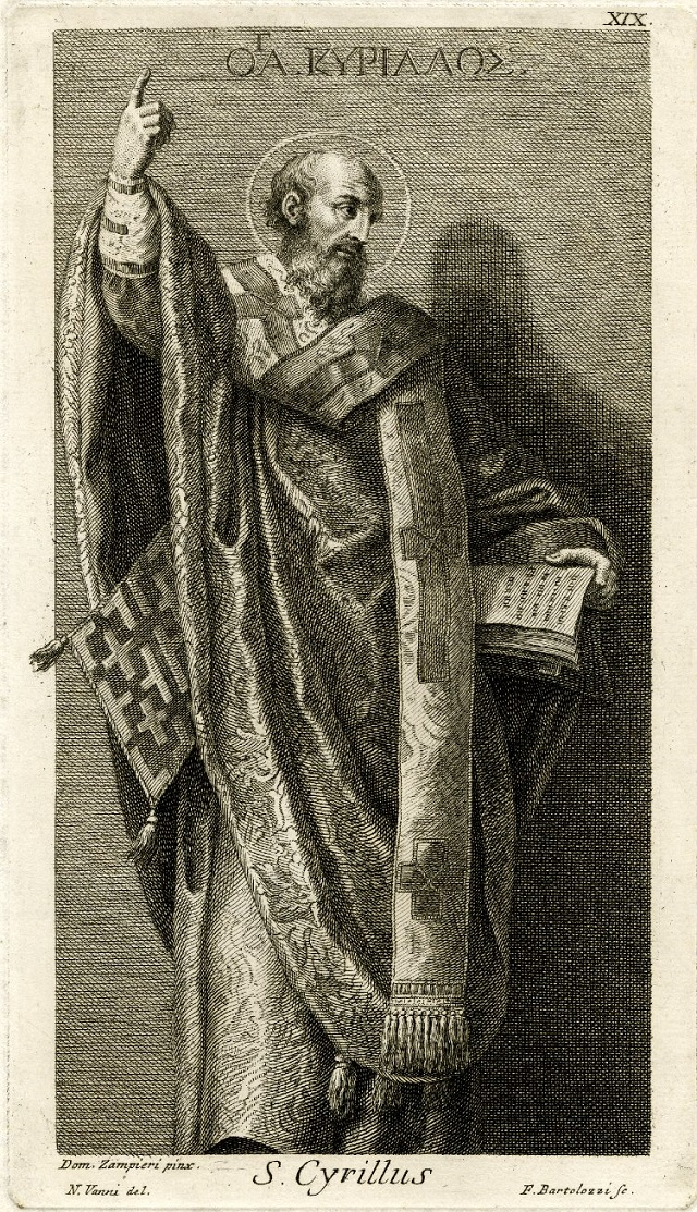 St. Cyril of Jerusalem, by Francesco Bartolozzi (1727-1815)