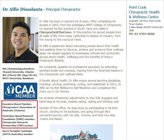 Alfie 6 board member of CAA VIC