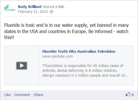 Body Brilliant 1 fluoride