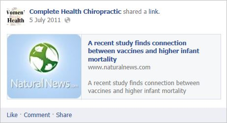 Complete health Chiro 3 vaccines and high infant mortality