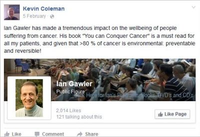 Coleman 19 promoting Gawler cancer treatment